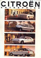 Citroen Ax Inc 4x4 Bx 19td & evasión Entreprise Vans 1991 folleto de ventas