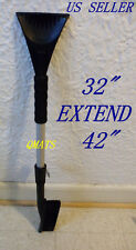 "Car Vehicle Snow Ice Scraper Removal Brush Shovel 32"" Extender 42"" ( Heavy Duty)"