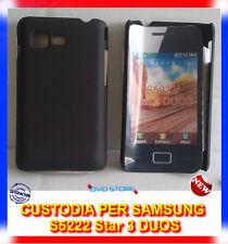 Pellicola + custodia back cover case NERA per Samsung Star 3 Duos S5222