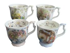 4 Brambly Hedge Beakers Full Size - All Four Seasons - Royal Doulton - Excellent