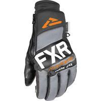FXR Transfer Pro Tec Snowmobile Glove Black Charcoal Grey Orange