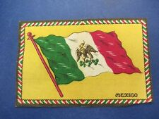 Vintage Felt Cigarette Cigar Flags, Mexico, Green/White/Red on Yellow, S601