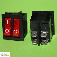 Doppel Wippenschalter 2in1 Einbauschalter EIN/AUS 2-Polig Kontakte 250V (307
