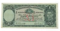 1942 Australia One Pound Note in Very Fine Condition! P.26