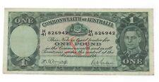 1942 Australia One Pound Note in Very Fine Condition! P.26