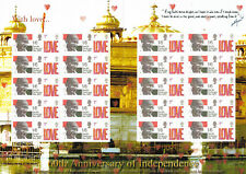 60th Anniversary of Independance Gandhi Themed Smilers Stamp Sheet