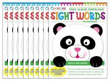 NEW Lot of 10 Early Learning Workbooks - Sight Words - Preschool Kindergarten