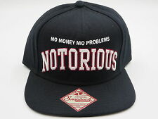 Biggie Notorious BIG Black Throwback Retro OG Jordan 1 Snapback Hat Cap SALE