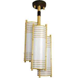 """Oriental Furniture 41"""" Kamakura Japanese Bamboo Hanging Lantern"""