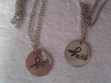 """Hope Faith"" Awareness Ribbon Fashion Jewelry Necklace Lot of 2"