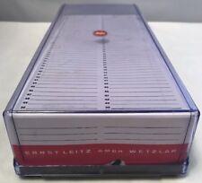 Vintage Leitz 35mm Foto Slide Aufbewahrungsbox & Projektor Zeitschriften Mehrere