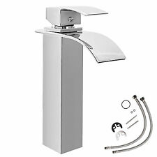 Mitigeur haut genre chute d'eau lavabo surface chromée salle da bain robinet