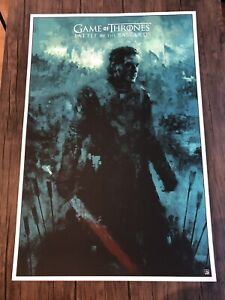 Game Of Thrones Battle Of The Bastards Karl Fitzgerald Poster Print