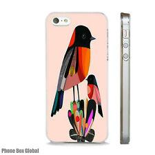 BRIGHT BIRDS COLOURFUL ART CASE FITS  IPHONE 4 4S 5 5S 5C 6 6S 7 8 SE PLUS X