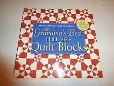 New Grandma's Best Full-Size Quilt Blocks Book Full Size Blocks Borders Bindi197
