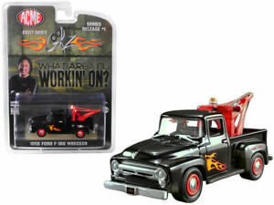 "GREENLIGHT FOR ACME 1956 FORD F-100 WRECKER TOW TRUCK ""GEARZ"" BLACK 1/64 51248"