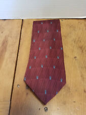 "Van Heusen Neck Tie Necktie 58""L x 3 3/4"" Wide, Burgundy Red Blue USA made"