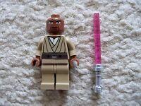 LEGO Star Wars Clone Wars - Rare Original - Mace Windu Minifig w/ Lightsaber
