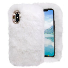 3D Soft Plush Furry Hairy Diamond Cute Warm Back Case Cover For iPhone Xs Max