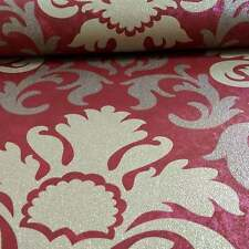 Carat Red and Gold Glitter Damask Wallpaper Paste the Wall Vinyl 13343-80