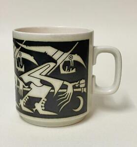VERY Rare Hornsea Pottery Witches Birthday Mug 1977, John Clappison - Halloween