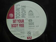 Todays People 12 in single Set Your Body Free on KMS Detroit techno sealed