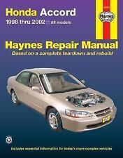 Honda Accord 1998-2002: All Models (Haynes Repair Manuals), Storer, Jay