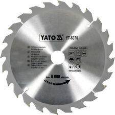 YATO Kreissägeblatt 250x30mm Hartmetall HM Sägeblatt  24Zähne