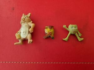 3 VINTAGE PLASTIC PENCIL TOPPERS 1960s. DONALD DUCK, BULLDOG & GRAPE