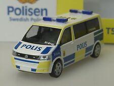 "Rietze VW t5 autobús polis ""Yttre befäl"", policía Suecia, lim. 300 - 1/87"