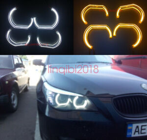 4x Angel Eyes DTM STYLE M4 STYLE For BMW 5 SERIES E60 E61 525 2008 2009 2010 M5