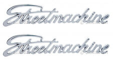 Streetmachine Emblems Emblem Chrome Metal Script Hot Rod Cruiser Street Machine