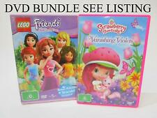 DVD BUNDLE x4 - Strawberry Shortcake x2, Lego Friends and Monster High - RRP$40