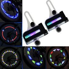 2x 14LED Motorcycle Cycling Bicycle Bike Wheel Signal Tire Spoke Light 30 Change
