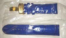 NIP - RAYALTY GENUINE LEATHER / CROCODILE WATCH STRAP / BAND Royal Blue 24 mm