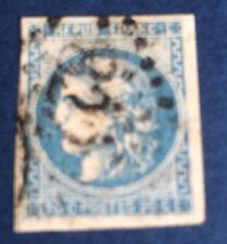France N° 46Ad 20 C Bleu Outre-mer  Sur Fragment Signe Claves TB Choix Côté 850€