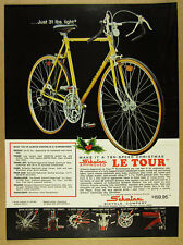 1974 Schwinn LE TOUR 10-Speed Bicycle yellow bike color photo vintage print Ad