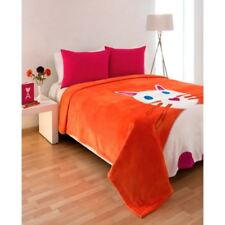 Agatha Ruiz De La Prada Orange/Cat Twin Blanket 100% Poliester NWT