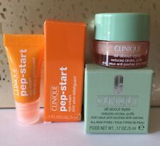 Lot Clinique All About Eyes Reduces Circles Puffs .17oz & Pep Start Cream Sample