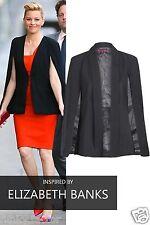 Womens Ladies Celeb Inspired Cape Blazer with Collar Ladies Jacket Top UK 8-16