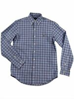 Ralph Lauren Polo Mens Oxford Plaid Blue/Red Pony Logo Button Down Shirt New