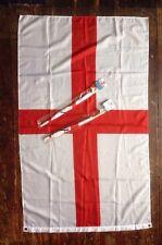ENGLAND FLAG St GEORGE CROSS FLAG - 5Ft x 3Ft & CAR FLAGS FOOTBALL RUGBY CRICKET