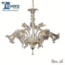 Lampadario Ideal Lux Rialto Sp5 Ambra Sospensione - codice 009704