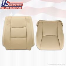 Driver Bottom & Upper Top Lean Back Leather Cover TAN Fit 2003-2009 Lexus GX470