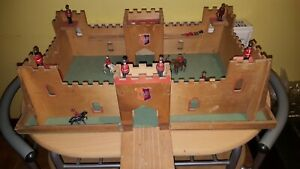 2ft wide Vintage Wooden Fort Drawbridge Colonnial military guard Accessories