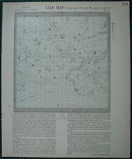 1883 LETTS STAR MAP & CONSTELLATIONS ASTRONOMY AQUARIUS PEGASUS ANDROMEDA ARIES