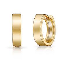Yellow Gold Huggie Hoop Earrings in Gift Pouch