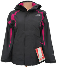 Girls North Face Waterproof GREY Jacket with hood (Size: XL)
