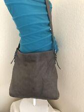 Giorgio Armani Gray Perforated Leather Hobo Shoulder Handbag