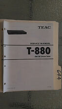 Teac t-880 service manual original repair book stereo tuner radio with part list